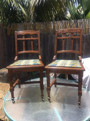 Antique Project Chairs set of 2 ~ Early 1900's for Sale in Carlsbad, CA