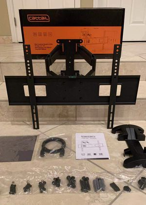 """NEW 32 to 65 Inch Swivel Dual Arm Single Stud Full Motion Articulating TV Television Wall Mount Bracket Stand With HDMI Wire and Screws 37"""" 42"""" 50"""" 5 for Sale in Covina, CA"""