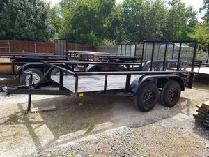 12x6 Pipetop Trailer With Brakes and Tailgate (TRAILA ) for Sale in Mesquite, TX