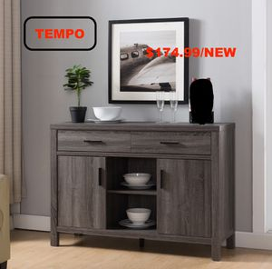 Buffet/TV Stand, Distressed Grey for Sale in Midway City, CA
