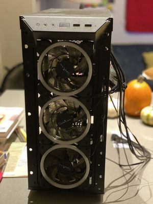 Apevia tower gaming computer case light up fans for Sale in Los Angeles, CA
