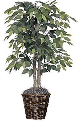 Artificial Natural Ficus Bush with Dark Green Leaves in Artificial Plant Ficus with Basket BRAND NEW 4 feet Beautiful Fake Plant for Sale in ROWLAND HGHTS, CA