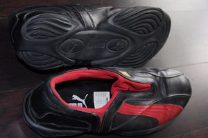 Puma Men's Slip-on Sneakers Black and Red Leather for Sale in Coronado, CA