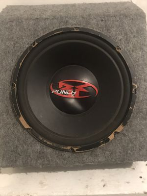 """12"""" punch p2 subwoofer with box included for Sale in Columbus, OH"""