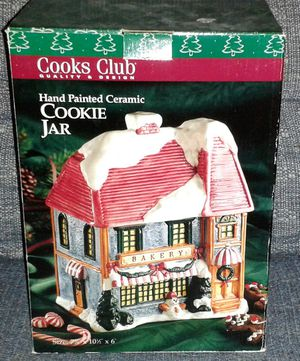 COOKS CLUB Christmas Bakery Cookie Jar NIB for Sale in Silver Spring, MD