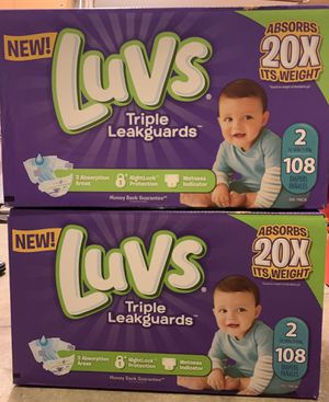 Luvs size 2 diapers $15 each or both for $25 for Sale in Daly City, CA