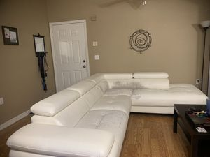 White leather couch for Sale in Orlando, FL