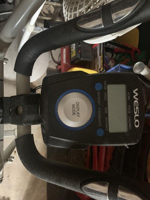 Weslo exercise bike