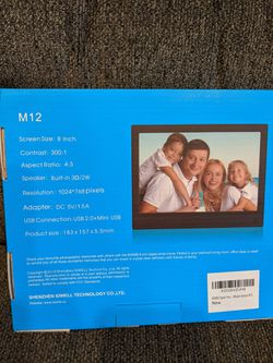 """8"""" digital photo frame brand new in box. Great way to view all of your family photos-with music or not, many options for Sale in Santa Clara,  CA"""