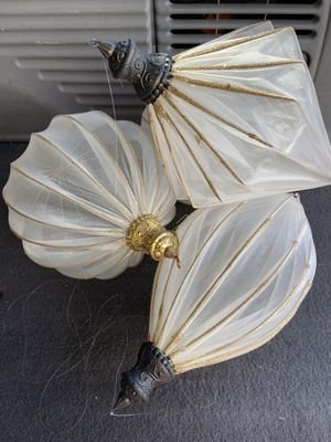 18 large sheer white and gold ornaments for Sale in Cashmere, WA