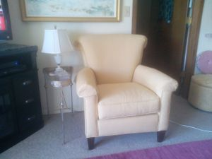 Clayton Marcus light gold chair. SOLD for Sale in Marquette, MI