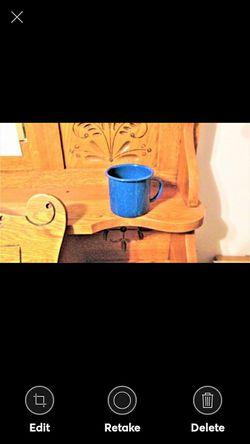 Vintage Blue Speckled Tin Cup for Sale in Lynchburg,  VA