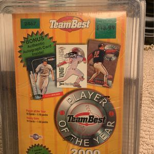 If21 Unopened Box 2000 Team Best With Autograph Card Baseball for Sale in Yorba Linda, CA