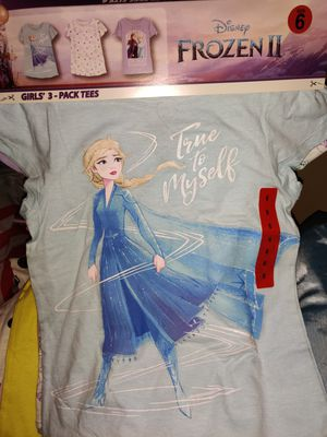 New 3pack girls size 6 Frozen2 t-shirts. NWCHGO 60656 for Sale in Chicago, IL