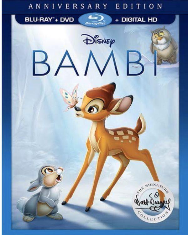 Bambi (1942) 2 Disc Anniversary Edition Blu-ray DVD