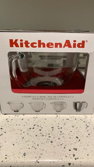 KitchenAid glass bowl for stand mixer for Sale in Hillsboro, OR