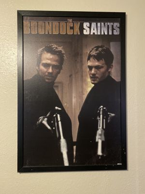 """24""""x36"""" wooden print w/ wooden frame. Boondock Saints. $40 OBO for Sale in Upland, CA"""