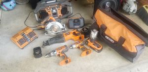 Ridgid power tool set for Sale in Tracy, CA