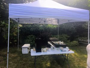 10 x 10 Foot Lightweight Recreation Aluminum Outdoor Canopy, White for Sale in Seattle, WA