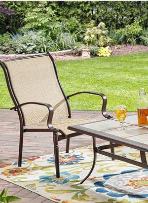 New!! Patio set, patio dinning chair set, patio chair set, outdoor 6 pc dining chair set, outdoor furniture, tan for Sale in Phoenix, AZ