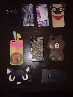 8 (IPhone 6/7) cases and 1 clip all for $35 for Sale in East Point, GA