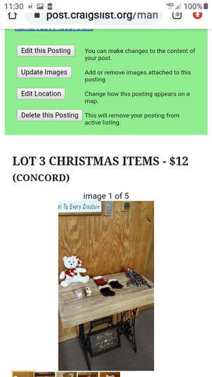 LOT # 3 CHRISTMAS ITEMS for Sale in Lynchburg, VA