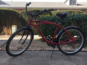 """SWEET fat tire cruiser! 3 speeds, 26"""" tires, fits riders from about 5'8"""" to just over 6'. It's been a lot fun! $50 for Sale in Tulsa, OK"""