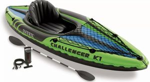 Intex K1 Challenger 1 Person Inflatable Kayak Boat for Sale in Las Vegas, NV