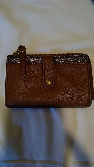 Small leather fossil Card Wallet for Sale in Indianapolis, IN