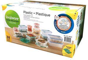 Unopened Snap ware Plastic Food Storage Set 38pc for Sale in Kirkland, WA