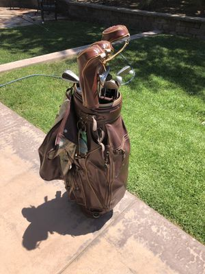 Executive level full set of Men's golf clubs and lots of balls, tees, etc. for Sale in San Diego, CA