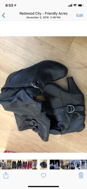 Long leather boots brand new size 7.5 for Sale in Durham, NC