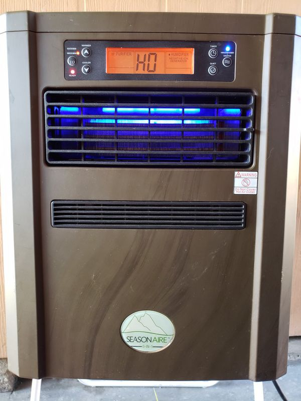 Seasonaire 6 in 1 air purification system and heater
