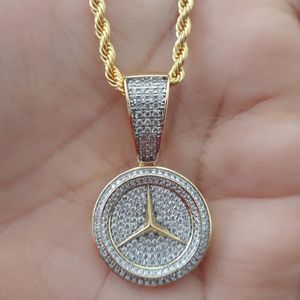 Brand New 14k Gold Finish Icedout Pendant With Chain for Sale in Los Angeles, CA