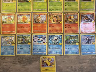 2021 McDonald's Pokémon 25th Anniversary Card Complete Holo Set for Sale in Whittier,  CA