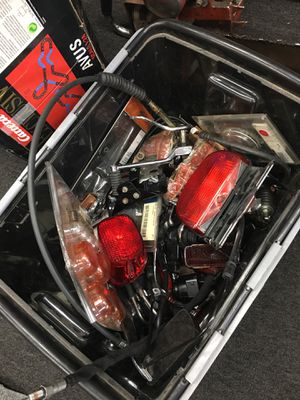 Box of Harley Davidson motorcycle parts $50 for Sale in Seymour, CT