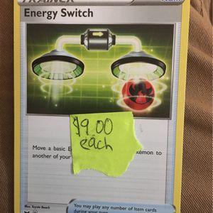 Energy Switch (Pokémon Card) for Sale in Auburn, WA