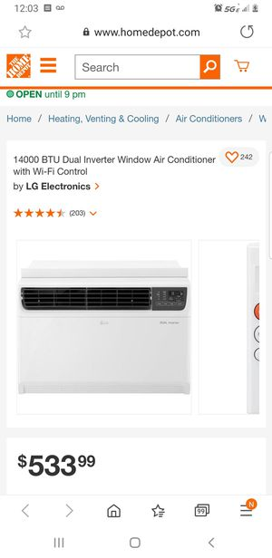 LG Room air conditioner dual inverter for Sale in North Las Vegas, NV