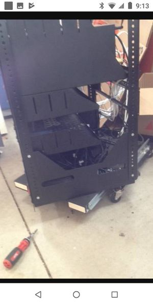 denon avr-x4100 receiver and media rack for Sale in San Diego, CA