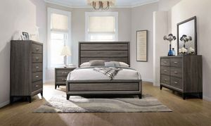 New Watson queen modern 5 Pc Bedroom Set (Bed Dresser Mirror Chest nightstand) for Sale in Miami, FL