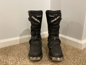 Kids dirt bike boots and helmet. Excellent condition! for Sale in Mentor, OH