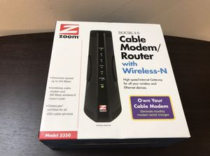 Cable modem router with wireless N for Sale in Clayton, MO
