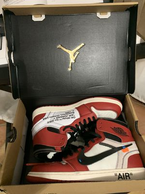 jordan 1 retro highx off white size 9,5. for Sale in West Palm Beach, FL