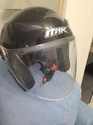 MYK Motorcycle Helmet with glass Visor( used ) for Sale in North Miami Beach, FL