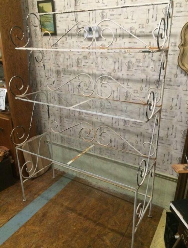 Antique Bakers rack $125