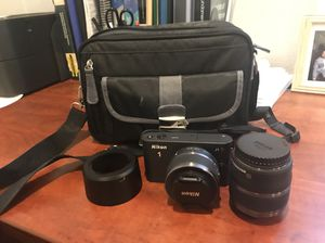 Nikon 1 J1 camera with extra lense and bag for Sale in Portland, OR