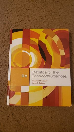 Statistics for the Behavioral Sciences by Frederick J. Gravetter and Larry B. Wallnau for Sale in Baton Rouge, LA