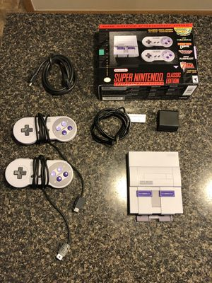Super Nintendo Classic Edition - Only used once! - All original packaging included + HDMI cable. Dozens of pre-loaded SNES classic games! for Sale in Grove City, OH