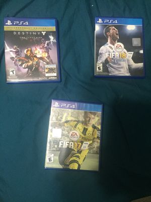 3 Ps4 games ! Disc on Exelents conditions! DESTINY. FIFA 17 & FIFA 18 for Sale in Silver Spring, MD