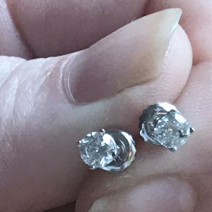 1/2 Ct TW Diamond Earrings In 14k White Gold Settings for Sale in Ashburn, VA